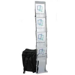 Broschyrställ plexiglas med väska