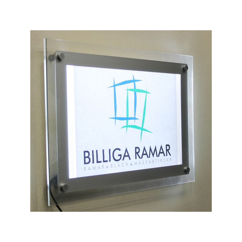 LED-plexiglasram