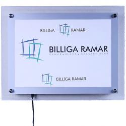 Plexiglasram LED Kristall