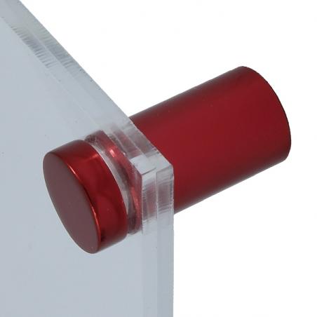 Basic Flat skyltdistans röd 4-pack
