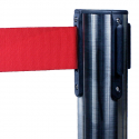 Avspärrningsstolpe Stapelbar Krom med rött band