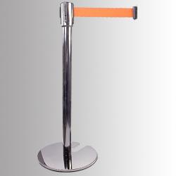 Utförsäljning: Avspärrningsstolpe Silver Krom Stapelbar