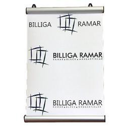 Affischlist i silvrig ram aluminium
