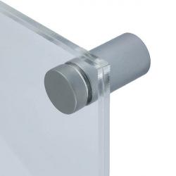 Basic Flat skyltdistans matt aluminium 4-pack